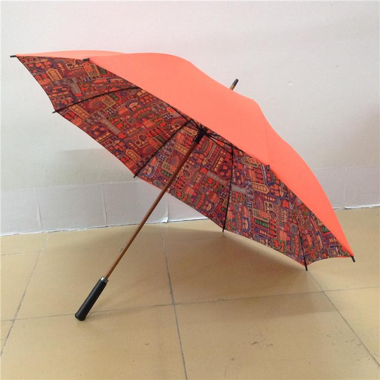 包皮革手柄双层伞