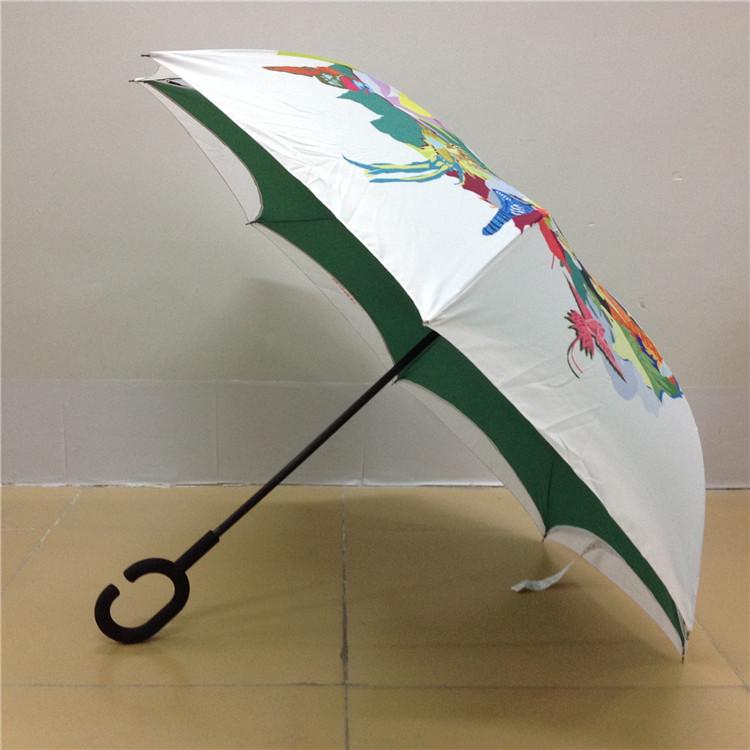 防湿双层免持式反向伞