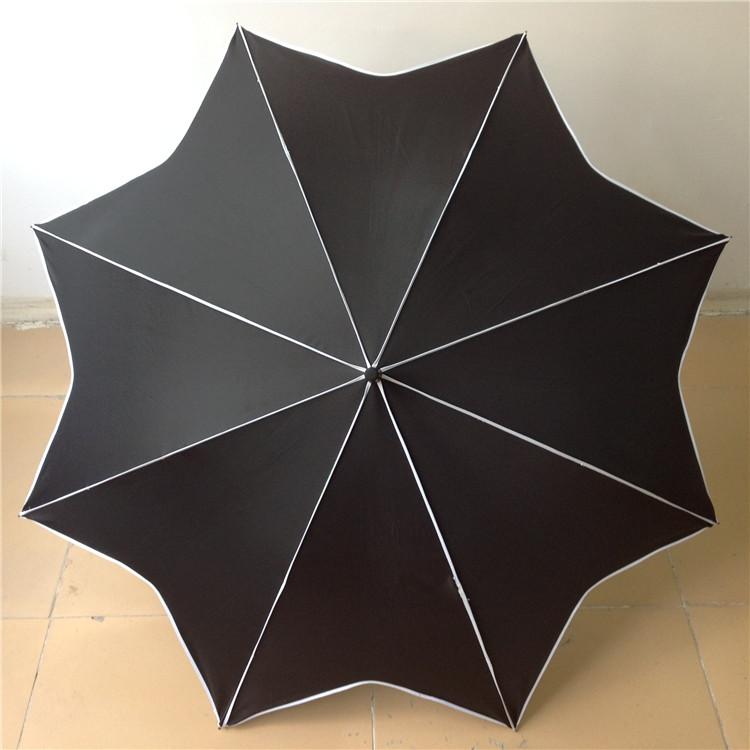 直杆包边枫叶伞