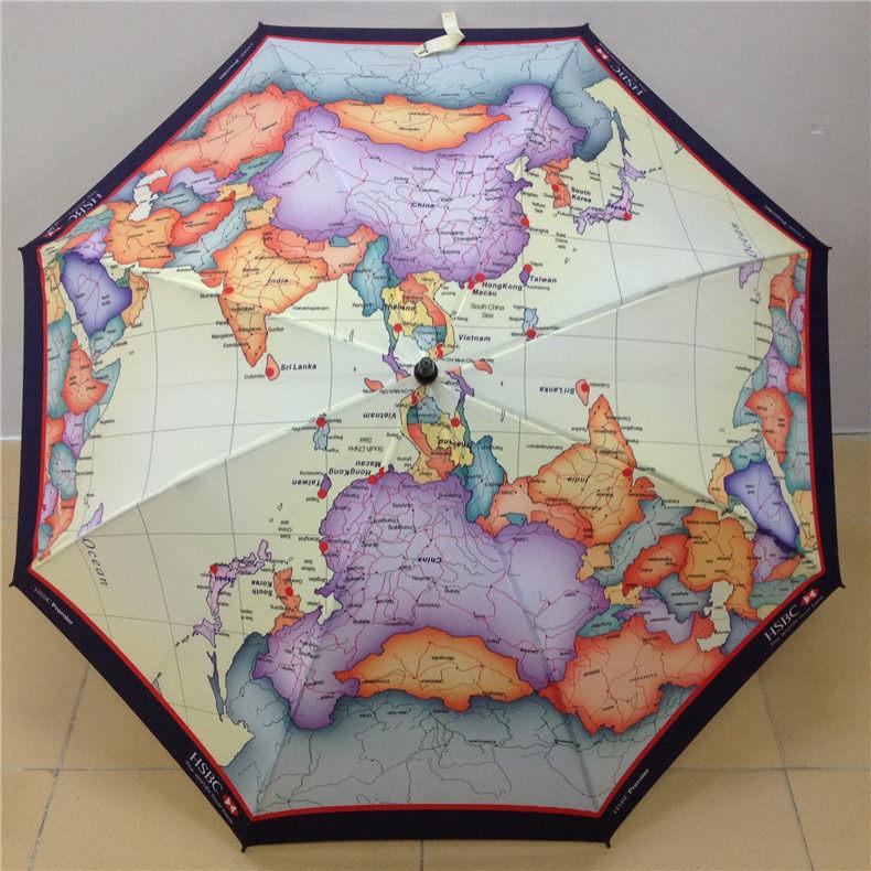 27寸高尔夫创意地图伞