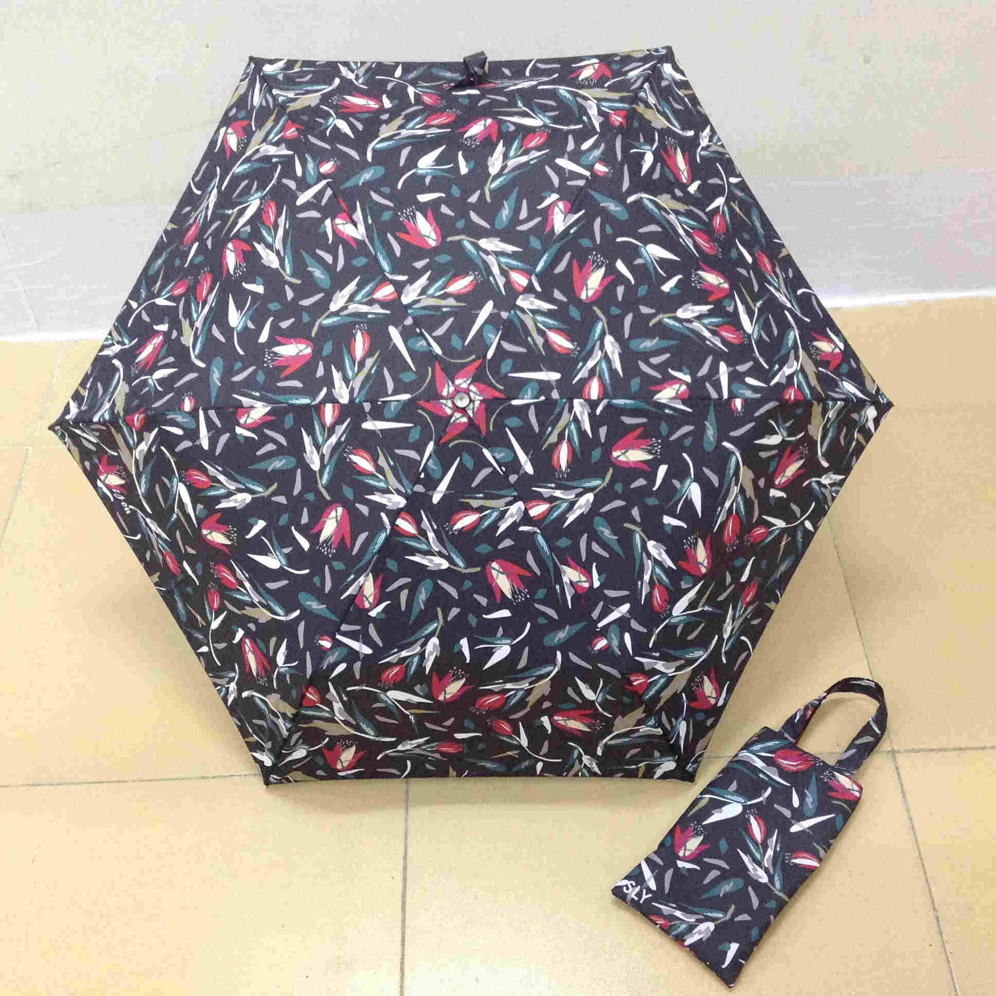 新款遮阳折叠手提包伞