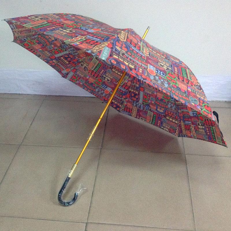 金色伞骨直杆伞