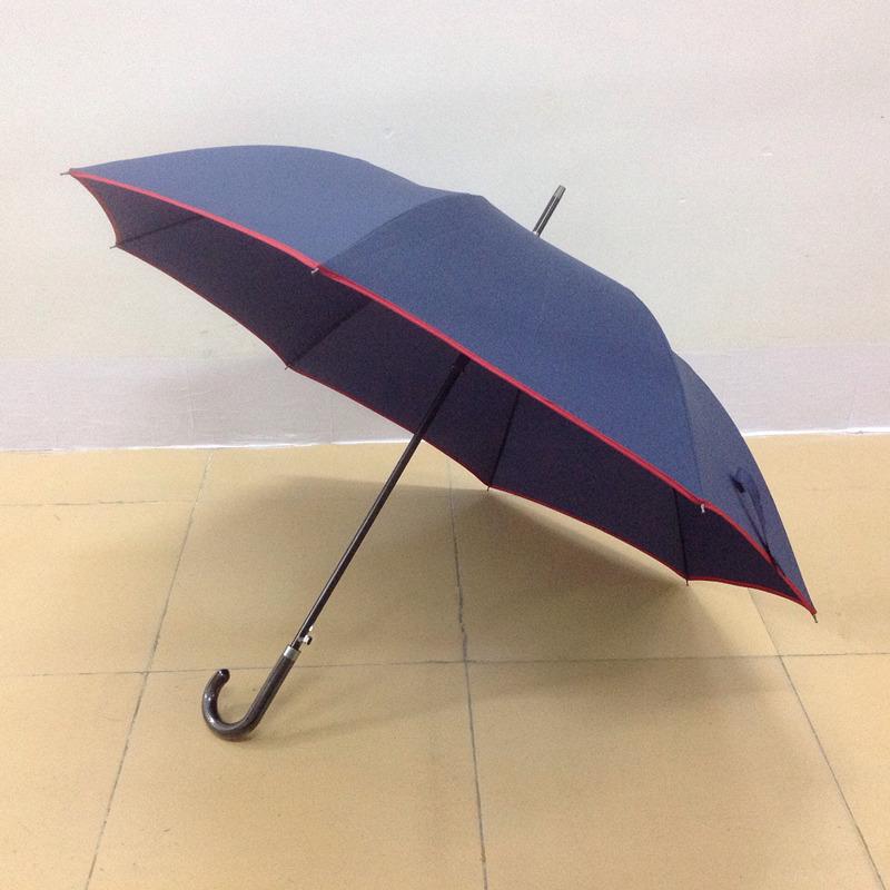 27寸包皮弯柄直杆雨伞