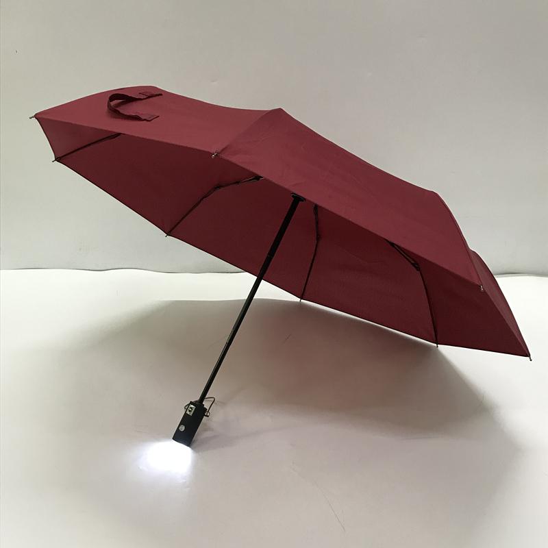 三折发光伞